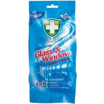 GREES SHIELD Glass Chusteczki nasączane do szyb i luster